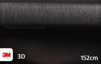 3M 1080 BR212 Brushed Black Metallic meubelfolie