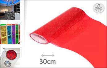 Rood lampen folie