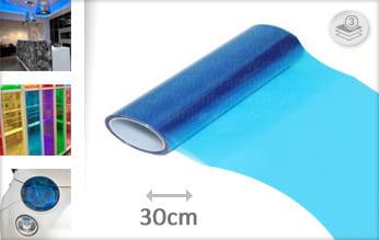 Blauw doorzichtig folie