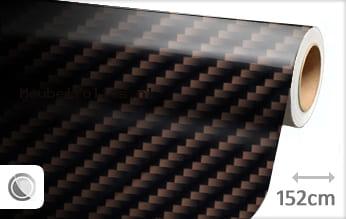 Bruin 2D carbon meubelfolie