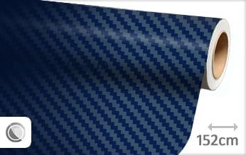 Donkerblauw 3D carbon meubelfolie