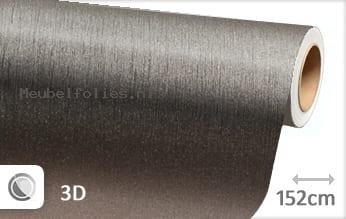 Geborsteld aluminium antraciet meubelfolie