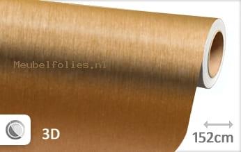 Geborsteld aluminium goud meubelfolie