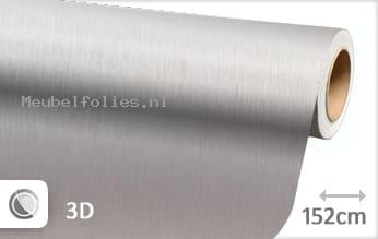 Geborsteld aluminium zilver meubelfolie