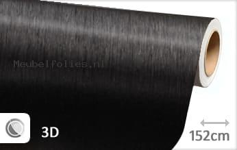 Geborsteld aluminium zwart meubelfolie