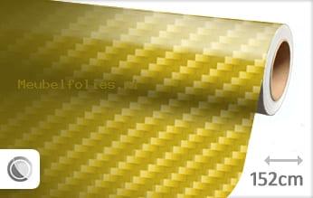 Geel 2D carbon meubelfolie