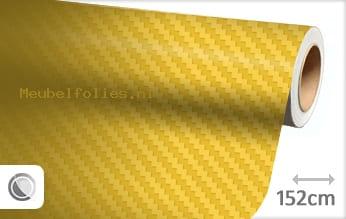 Geel 3D carbon meubelfolie