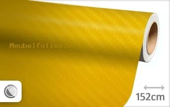 Geel 4D carbon meubelfolie