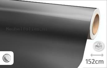 Glans metallic antraciet meubelfolie