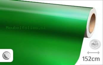 Glans metallic groen meubelfolie