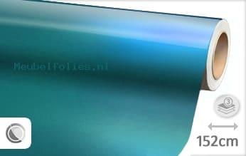 Glans metallic lichtblauw meubelfolie