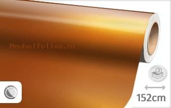 Glans metallic oranje meubelfolie