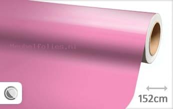 Glans roze meubelfolie