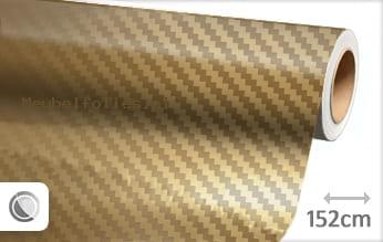 Goud chroom 3D carbon meubelfolie