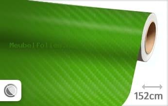 Groen 4D carbon meubelfolie