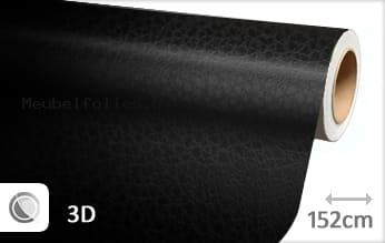 Leder look zwart meubelfolie