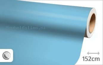 Mat babyblauw meubelfolie