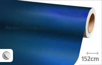 Mat chroom blauw meubelfolie