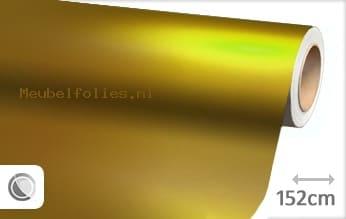 Mat chroom geel meubelfolie