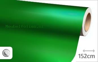 Mat chroom groen meubelfolie