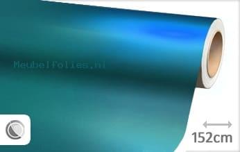 Mat chroom lichtblauw meubelfolie