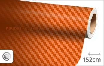 Oranje 3D carbon meubelfolie