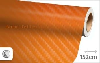 Oranje 4D carbon meubelfolie