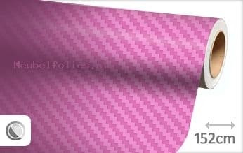 Roze 3D carbon meubelfolie