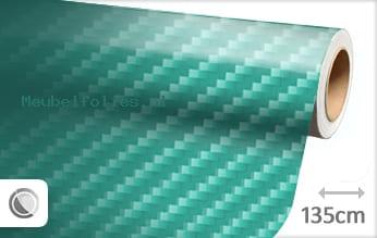 Turquoise 2D carbon meubelfolie