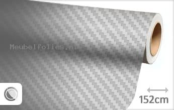 Zilver 3D carbon meubelfolie