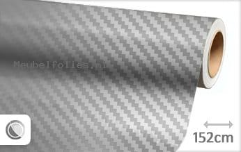 Zilver chroom 3D carbon meubelfolie