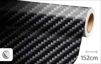 Zwart 2D carbon meubelfolie