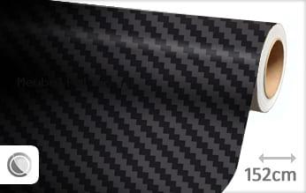 Zwart 3D carbon groot meubelfolie